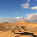 サハラ砂漠のど真ん中、ティバインのキャンプマルス!