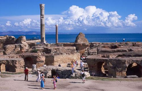 世界遺産カルタゴ遺跡のアントニヌス共同浴場
