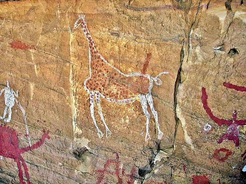アルジェリアのタッシリ・ナジェールにある洞窟の壁画