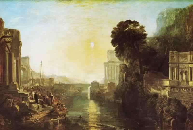 「カルタゴを建設するディドー」ジョゼフ・マロード・ウィリアム・ターナー画